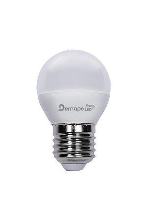 Lâmpada LED Bolinha E27 4,5W Branco Quente