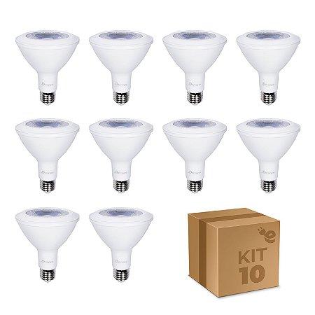 Kit 10 Lâmpada LED PAR30 E27 11W Branco Quente
