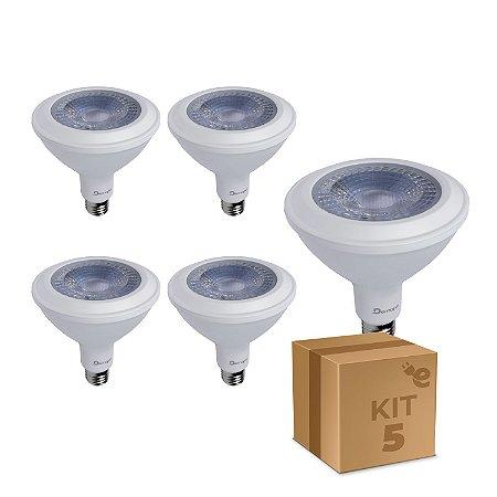 Kit 5 Lâmpada LED PAR38 E27 14W Branco Quente