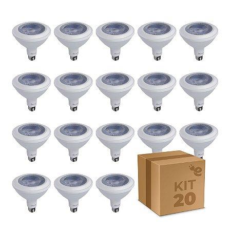 Kit 20 Lâmpada LED PAR38 E27 14W Branco Quente