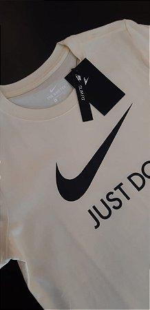 Camiseta Feminina Nike Just Do It Slim Fit Amarelo-bebê