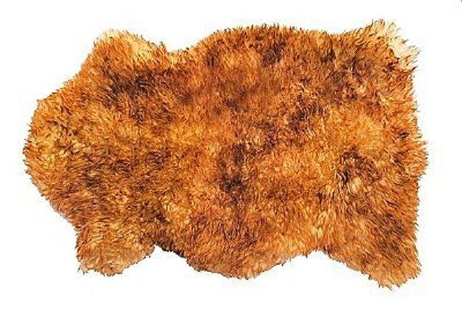 Pelêgo Natural pele de carneiro chamuscado Chamuscado