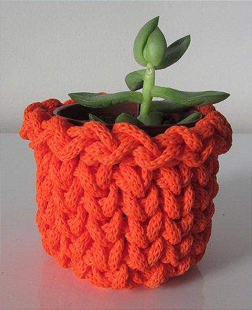 Lembrancinha de crochê laranja