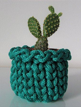 Lembrancinha de crochê verde bandeira