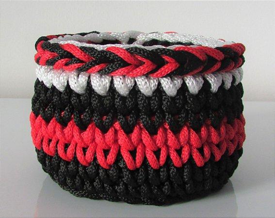 Porta treco de crochê do Flamengo