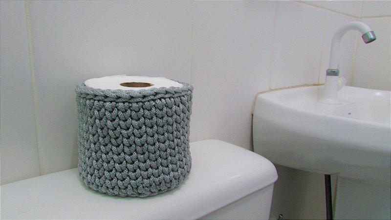 Porta papel higiênico de crochê unitário