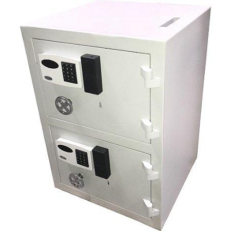 Cofre Boca de Lobo com Duas Portas Chave Gorja e Fechadura Eletrônica