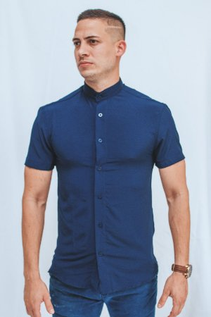 Camisa Gola Padre Blue Brothers