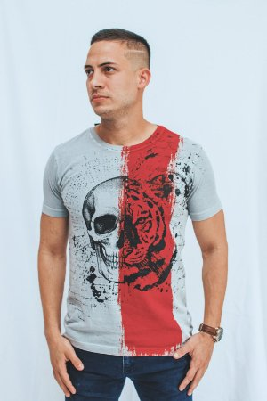 Camiseta Brothers Tiger Skull