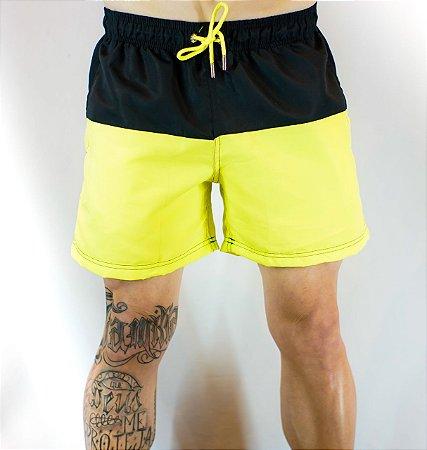 Short de Praia Lemon and Black