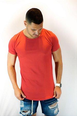 Camiseta Basica Long Vermelha