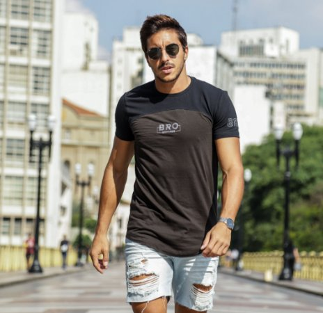Camiseta Long Brothers Black and Grey