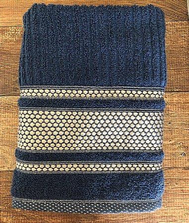 Toalha de Rosto 100% algodão Princess Azul Noite