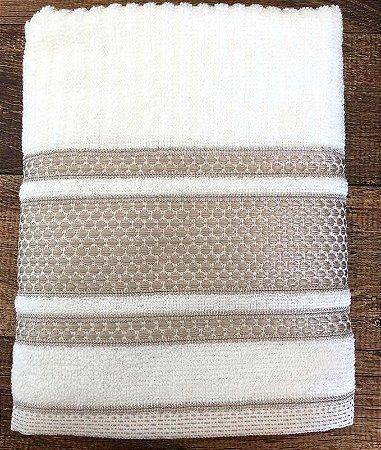 Toalha de Rosto 100% algodão Princess Branco