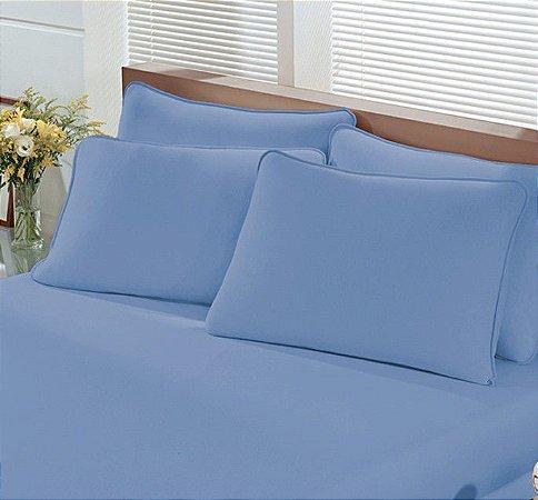 Fronha Avulsa de Malha 250 Fio Penteado - Azul Infinito - Image Buettner