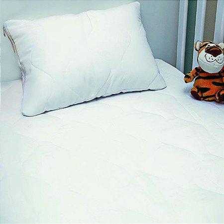 Protetor de Travesseiro de Bebê 30cm x 40cm - com Zíper - Repelente à Água - Edromania