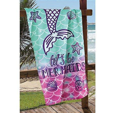 Toalha de Praia Velour Sereia Mermaid - Dohler