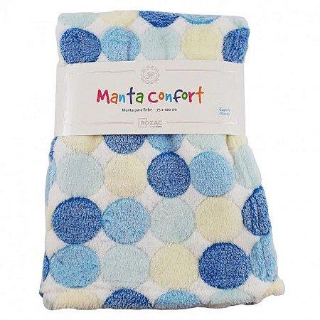 Manta para Bebê Confort super macia 75cm x 100cm - Antialérgica Bolas