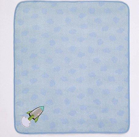 Manta de Microfibra Anti Alérgica Azul Foguete - Buettner