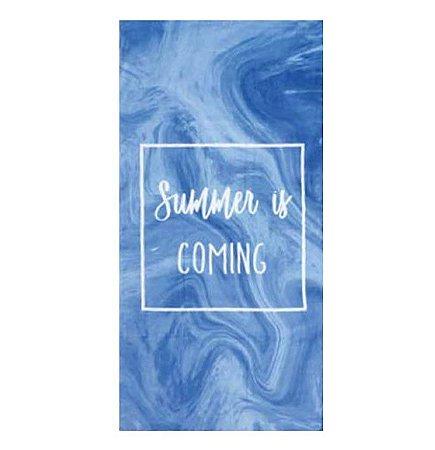 Toalha de Praia aveludada Summer is Coming Azul - Dohler