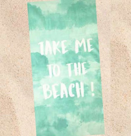 Toalha de Praia Velour Dohler Take me to the Beach Verde