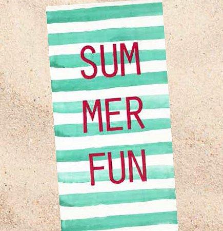 Toalha de Praia Velour Dohler Summer Verde