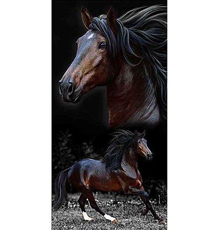 Toalha de Praia Aveludada Cavalo Brow Horses - Buettner
