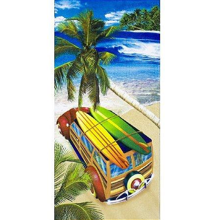 Toalha de Praia aveludada Surf Trip Boards Dohler
