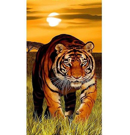 Toalha de Praia aveludada Tigre Tiger Buettner