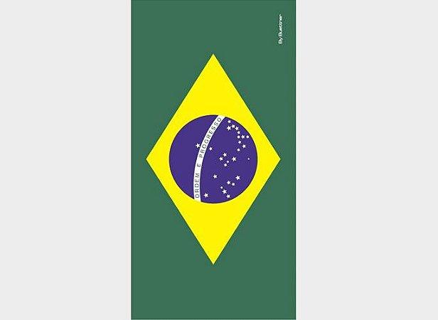 Toalha de Praia Estampada Bandeira do Brasil 01 Aveludada - Buettner