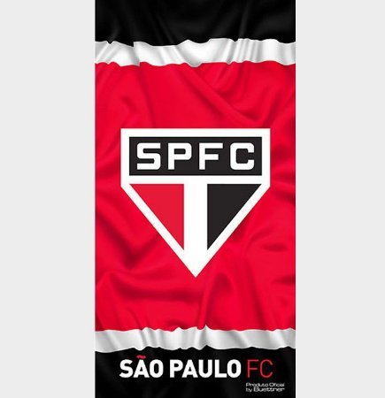 Toalha de Futebol Aveludada São Paulo 01 - Buettner