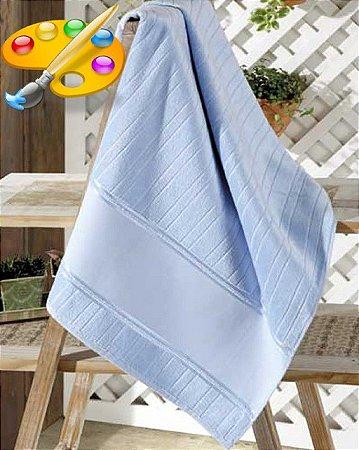 Jogo Velour 2 peças de Toalha de Banho e Rosto para PINTAR - Artesanalle - Dohler - Cor Azul