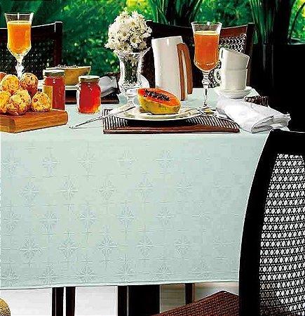 Toalha de Mesa Retangular 1,60m x 3,20m para mesa de 12 lugares - Sempre Limpa Hicks Gelo Karsten