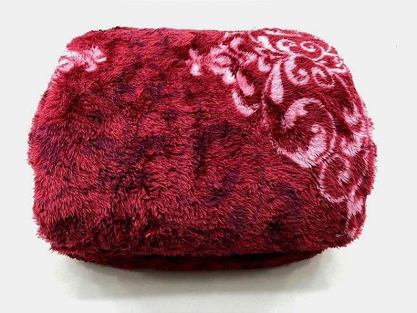 Cobertor Queen 2,20m x 2,40m Mont Blanc Rozac Pelo Alto Sangria