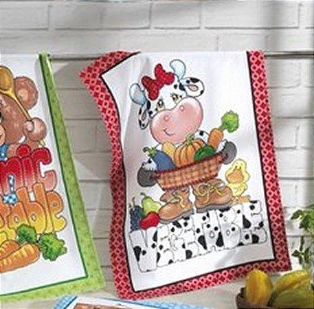 Pano de Copa Estampado Tecilar Dohler Vegetables Vermelho