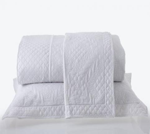 Kit Colcha King com Porta Travesseiros Microfibra Provence Branca