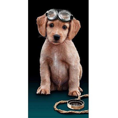 Toalha de Praia aveludada Flying Dog Cachorro Buettner