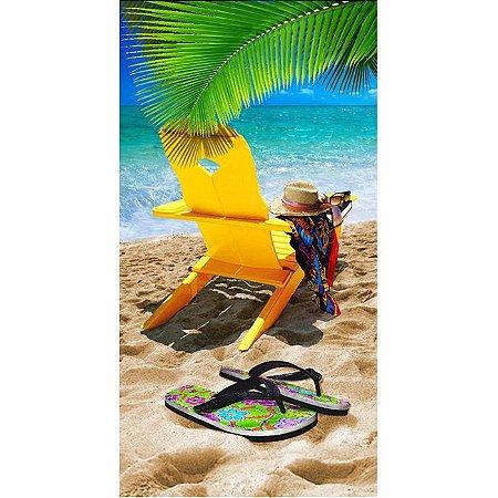 Toalha de Praia Veludo Cadeira Beach Chair Buettner