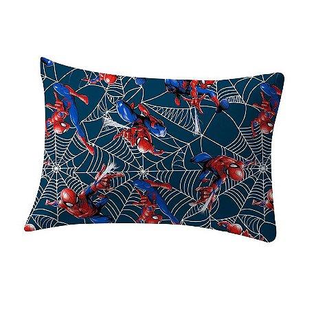 Fronha avulsa 1 peça de Malha Marvel Homem Aranha Teia Azul Portallar