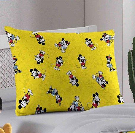 Fronha avulsa 1 peça de Malha Portallar Disney Mickey 90 anos