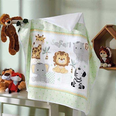 Toalha de Banho com Capuz para bebê Aveludada Safari Dohler