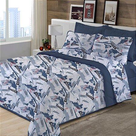 Fronha avulsa 1 peça de Malha 100% algodão Edromania Estampada Azul News