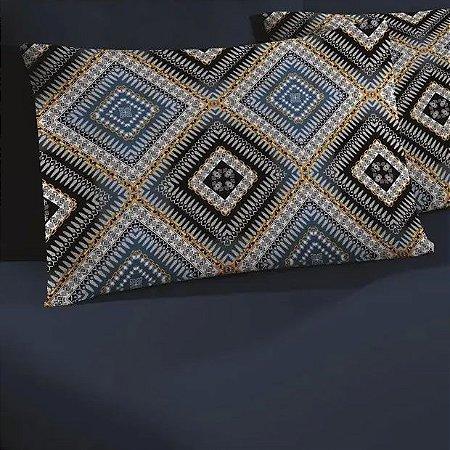 Jogo de Cama Solteiro 2 peças de Malha lençol de baixo com fronha Portallar Dubai