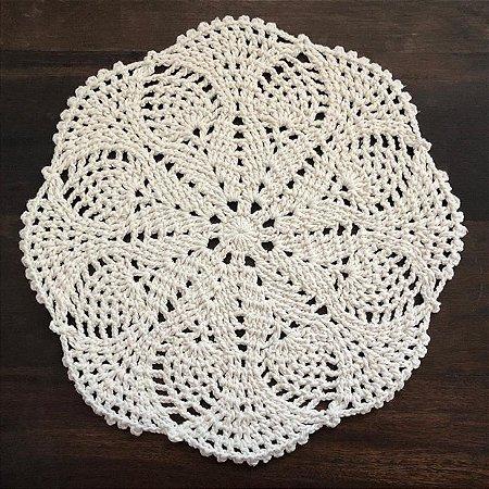 Sousplat de Crochê individual feito à mão Lotus Cru