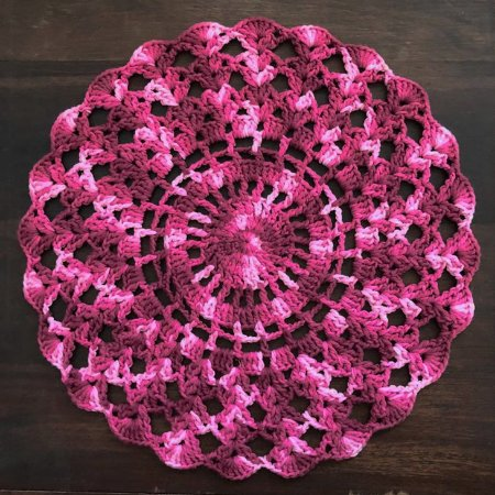 Sousplat de Crochê individual feito à mão Anne Mescla Uva