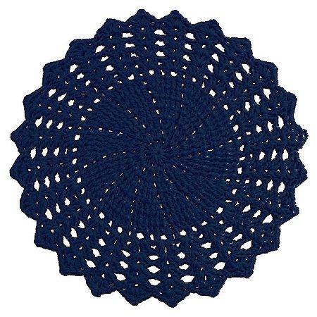 Sousplat de Crochê individual feito à mão Vitória Azul Escuro