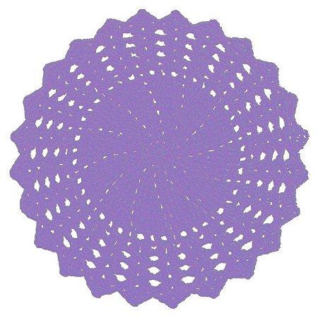 Sousplat de Crochê individual feito à mão Vitória Lilás
