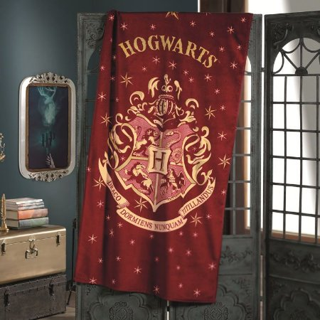 Toalha de Praia Velour Aveludada Licenciado Harry Potter 01