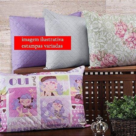 Travesseiro 45cm x 65cm 1 peça Eco Estampado Colorido Hedrons Estampa Sortida