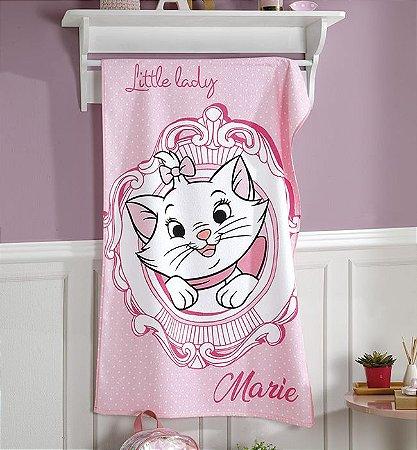 Toalha de Banho Felpuda 100% algodão Licenciada Gatinha Marie Kids Rosa